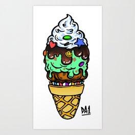 ICE CREAM-Muffin-Cone [original drawing] Art Print
