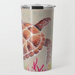 Tan Sea Turtle Travel Mug