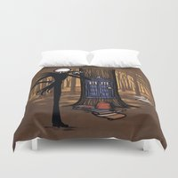 hallion Duvet Covers featuring What's This? What's This? by Karen Hallion Illustrations