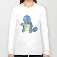 squirtle Long Sleeve T-shirts featuring Squirtle by S3NTRYdesigns