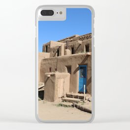 Taos Pueblo Village Road Clear iPhone Case
