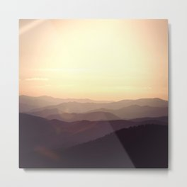 Smokier Mountain Metal Print