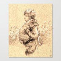 le petit prince Canvas Prints featuring Le Petit Prince by SydniArt