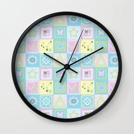 Delicate shades of baby pattern. Wall Clock
