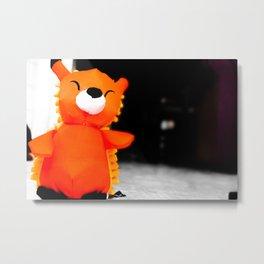 Fox in a Big World Metal Print