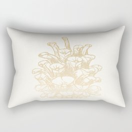 Golden Pine Cone Rectangular Pillow