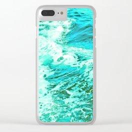Ocean Vintage Retro Blue Green Clear iPhone Case