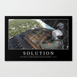 Solution: Inspirational Quote and Motivational Poster Canvas Print