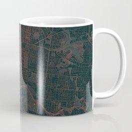 Melbourne Map Red Coffee Mug