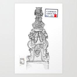 Venezia Lamp Post Art Print