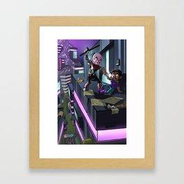 Cyborg Brutality Issues Framed Art Print