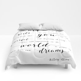 hillary clinton quote Comforters