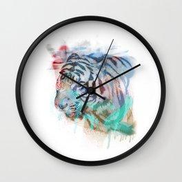 Spray Tiger Wall Clock