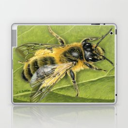Honeybee On Leaf Laptop & iPad Skin