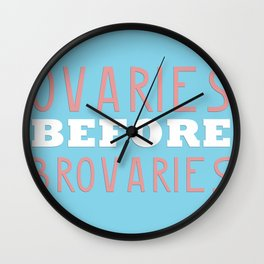 PARKS AND RECREATION OVARIES BEFORE BROVARIES LESLIE KNOPE QUOTE Wall Clock
