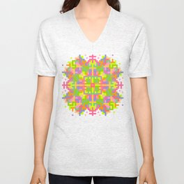 Analogue Flower Unisex V-Neck