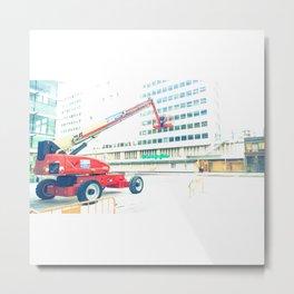 The Red Crane Metal Print