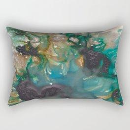 Listen - Mixed media ink painting Rectangular Pillow