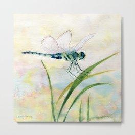 Dragonfly Watercolor  Metal Print
