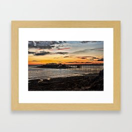 Birnbeck Pier and island Weston-super-Mare Framed Art Print