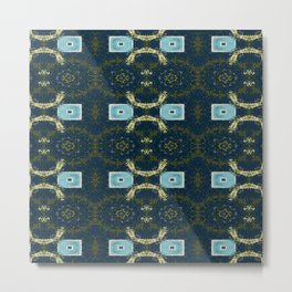 Vividly Mainly Tricolor Pattern 6 Metal Print