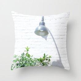 Street photography lamp & tree II Throw Pillow