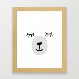 Polar Bear face Framed Art Print