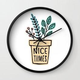Nice Times Plants Wall Clock