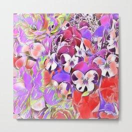 Candy floral mix pink Metal Print
