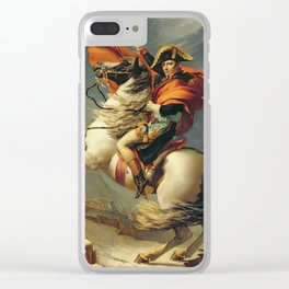 Jacques - Louis David - Napoleon Crossing The Alps On 20th May Clear iPhone Case