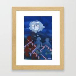 Boys and War Framed Art Print
