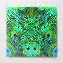 Ornate Green-Gold-Purple Peacock Feathers Art by sharlesart