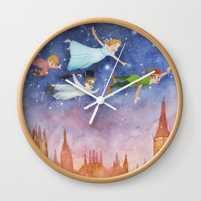 Peter Pan Sunset Nursery Decor Wall Clock By Gus