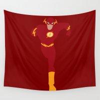 flash Wall Tapestries featuring Flash by karla estrada
