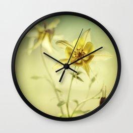 Yellow Columbines Wall Clock