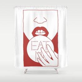 eat me Shower Curtain
