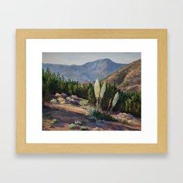 The Sentinels of the California Desert Framed Art Print