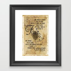 Love is Now Mingled with Grief Framed Art Print