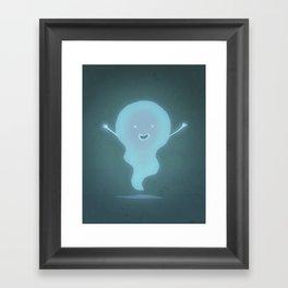 Happy Ghost Framed Art Print