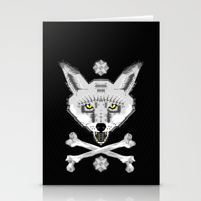 Silver Fox Geometric Stationery Cards