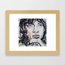 M JAGGER Framed Art Print