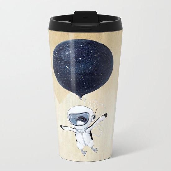 Penguin fly Metal Travel Mug