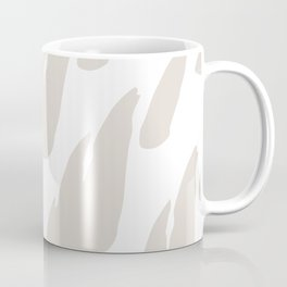 Neutral Abstract Brush Marks Coffee Mug