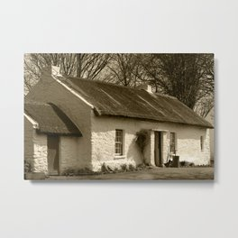 Thatched Cottage Omagh Tint Metal Print
