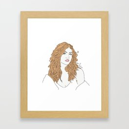 Clary Framed Art Print