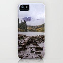 Maroon Bells in the Rain iPhone Case