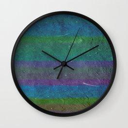 Rough Seas - Textured Bold Stripes Wall Clock