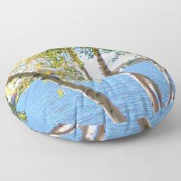 Sailing through the Birch Floor Pillow