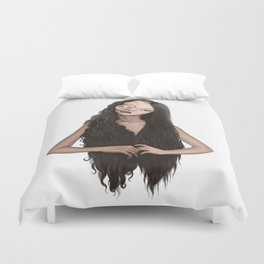 Two faced witch Duvet Cover