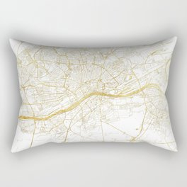 Frankfurt Map Gold Rectangular Pillow